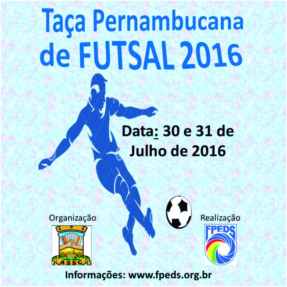 30 e 31-07-2016 Cartaz - 1 Taça Pernambucana de Surdos 2016