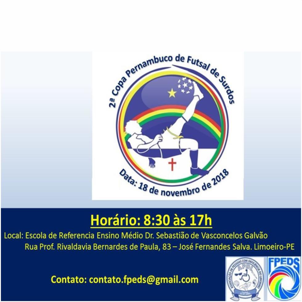 Cartaz- 2 Copa PE de Futsal 2018 - Limoeiro-PE