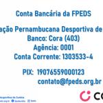 Conta Bancária da FPEDS - Cora